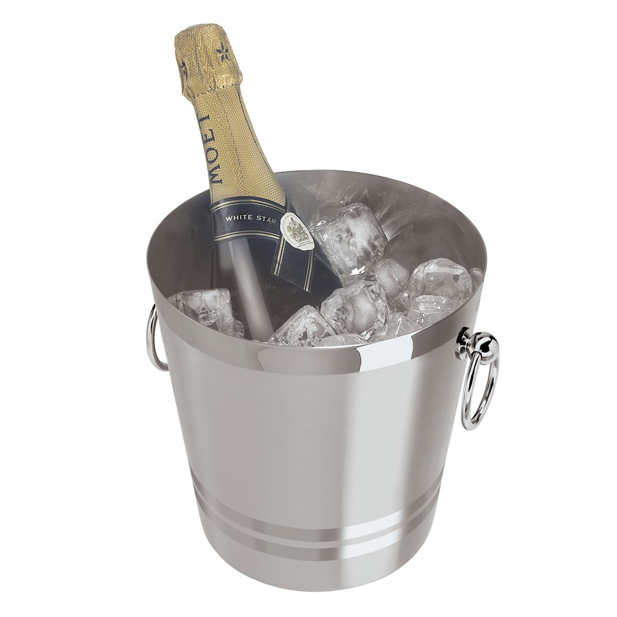 Oggi 7041.0 7041 Stainless Steel Champagne Bucket, 4-1/4-Quart