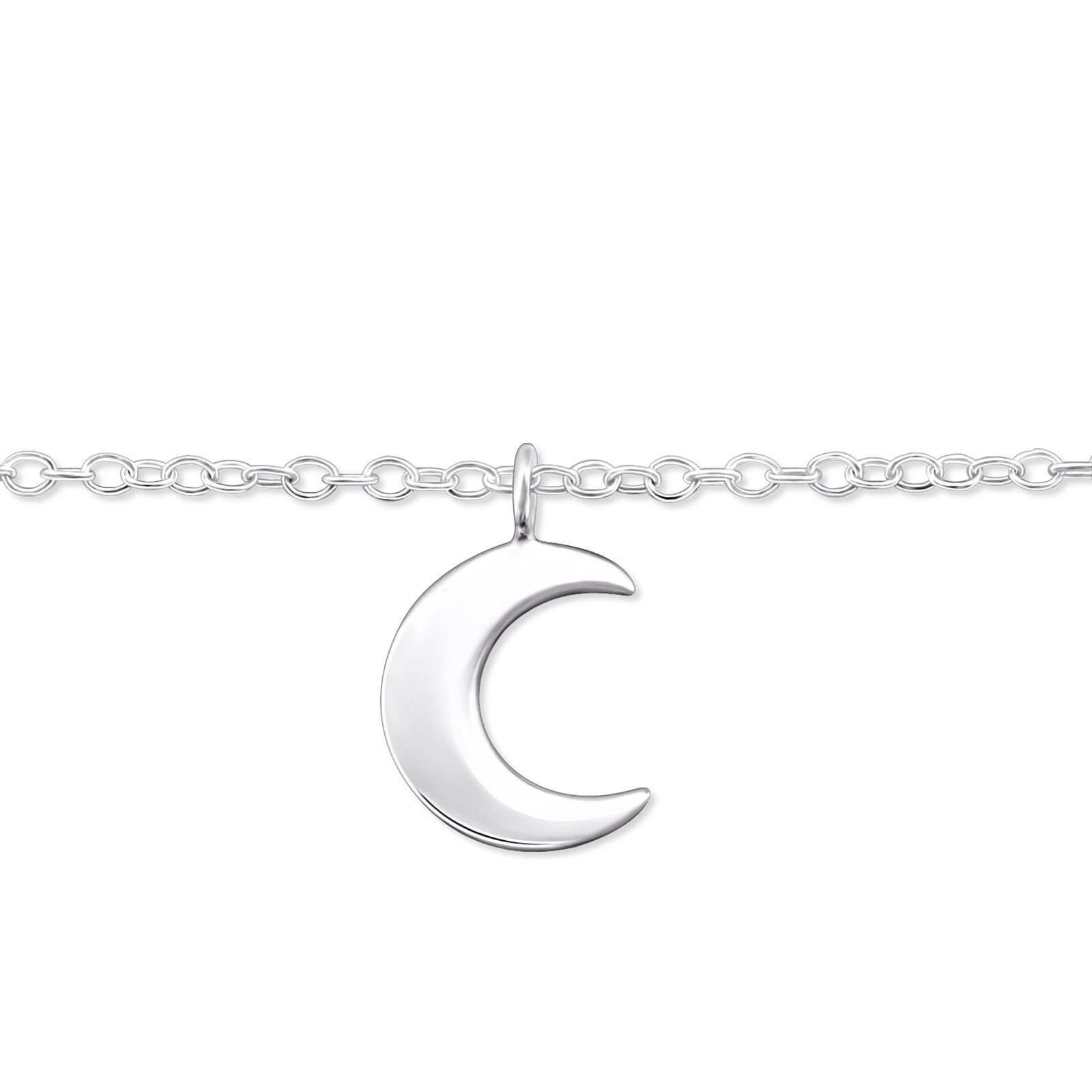 Atik Jewelry Silver Moon Anklet