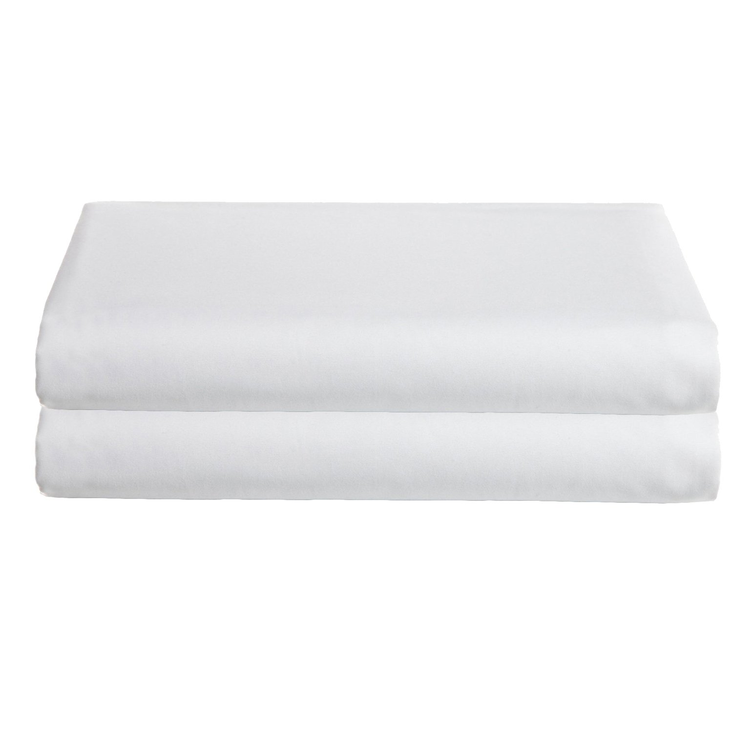 Babydoll Bedding Moses Basket Set of 2 Sheet, White, 13'' x 27''