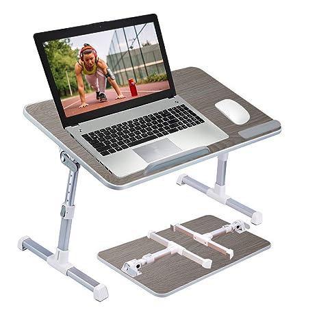 Bramley Power - Escritorio portátil Plegable y Ajustable para Ordenador portátil, Mesa de Cama,