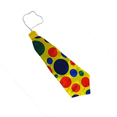 Jumbo Giant Polka Dot Clown Neck Tie: Toys & Games
