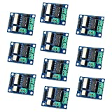 Optimus Electric 10pcs Opto-Isolated Motor Driver Module with L293 Driver Chip and Two H-Bridges for Driving DC and Stepper Motors from