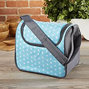 Fit & Fresh Kids' Morgan Insulated Lunch Bag with Padded Shoulder Strap for Girls, Capri Flower Dot