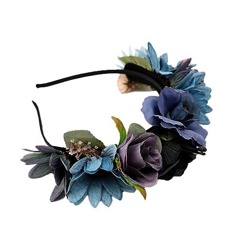 Magideal Boho Damen Madchen Blume Haarreif Blumenstirnband Garland