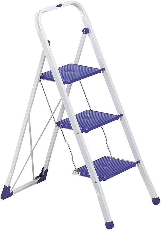 Gimi Tiko 4 Taburete Escalera de Acero Inoxidable, 4 Peldaños: Amazon.es: Hogar