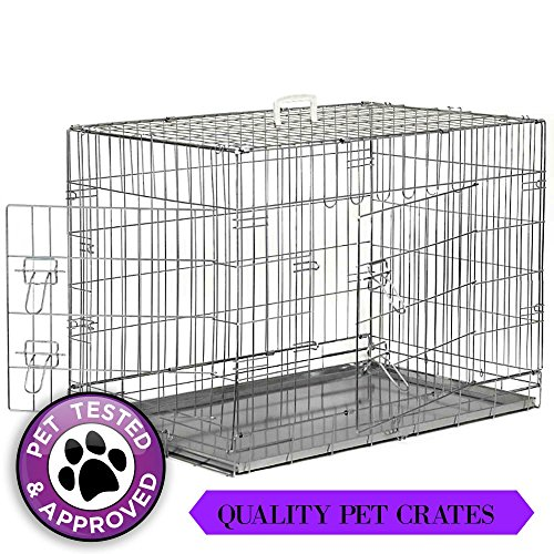 "48"" XX-Large Dog Cage Crate Folding Kennel Pet Puppy Pen ..."