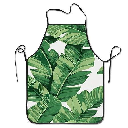 Delantal de cocina Delantales de babero de hojas de palmera ...