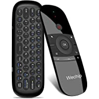 Wechip W1 2.4G air Mouse Wireless Keyboard Remote Control Infrared Remote Learning 6-axis Motion Sense w/USB Receiver…