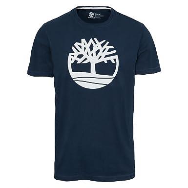 Style simple Timberland T shirt bleu T shirts Enfant Les