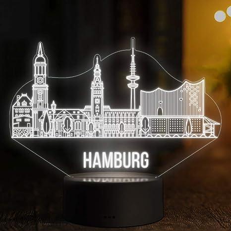 Dekoration Deutschland.Led Deko Lampe Hamburg Skyline Elbeffekt Deutschland Germany Dekoration Reisen Travel Elbphilharmonie Souvenir Geschenk Andenken