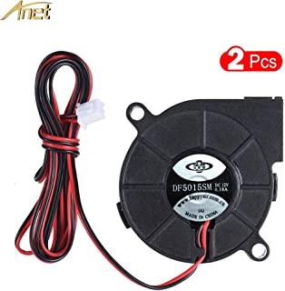 Zamtac Anet 3D Printer Parts Fan Cooling Blow Radial Fan Cooling 12V DC 50mm Hot End Extruder 5015 Fan for Prusa i3 A8 A6 3D Printer - (Size: 3pcs)