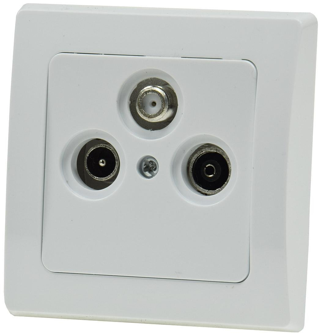 Delphi Chilitec Antenna Socket TV / Radio / Sat / White - 19723