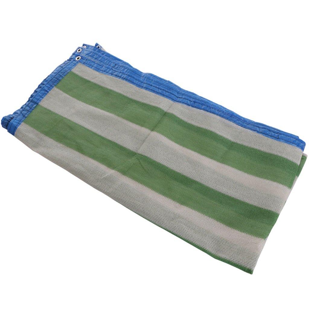 植物のストライプポリサンシェード布、グロメット付き70%メッシュサンブロック (サイズ さいず : 6 x 8m) B07FYGYT5S 6 x 8m  6 x 8m