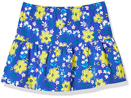 Girl Blue Floral Skirt (A for Awesome Girls Casual Ruffle Pull on Skirt Large Ellis Blue Floral AOP)