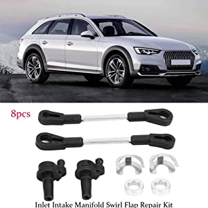 NOENNULL Inlet Intake Manifold Swirl Flap Repair Kit Fit For A5 A6 A7 2.7 3.0 TDi Touareg