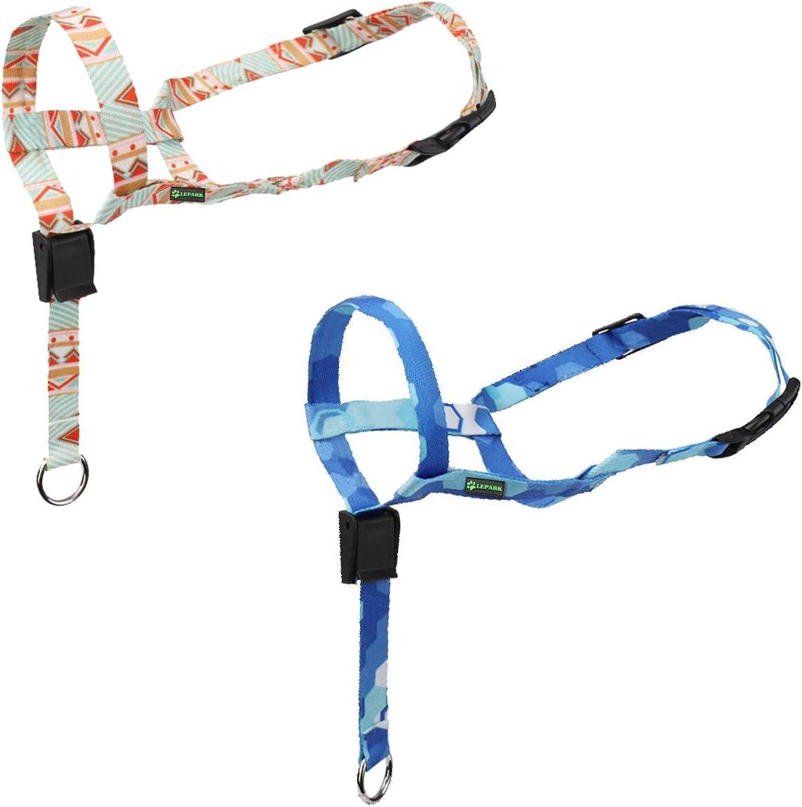 Maulkorb Hund ILEPARK Hunde Maulkorb Hundehalfter aus Leder Einstellbar Hundehalsband-Leder der Ziehen verhindert