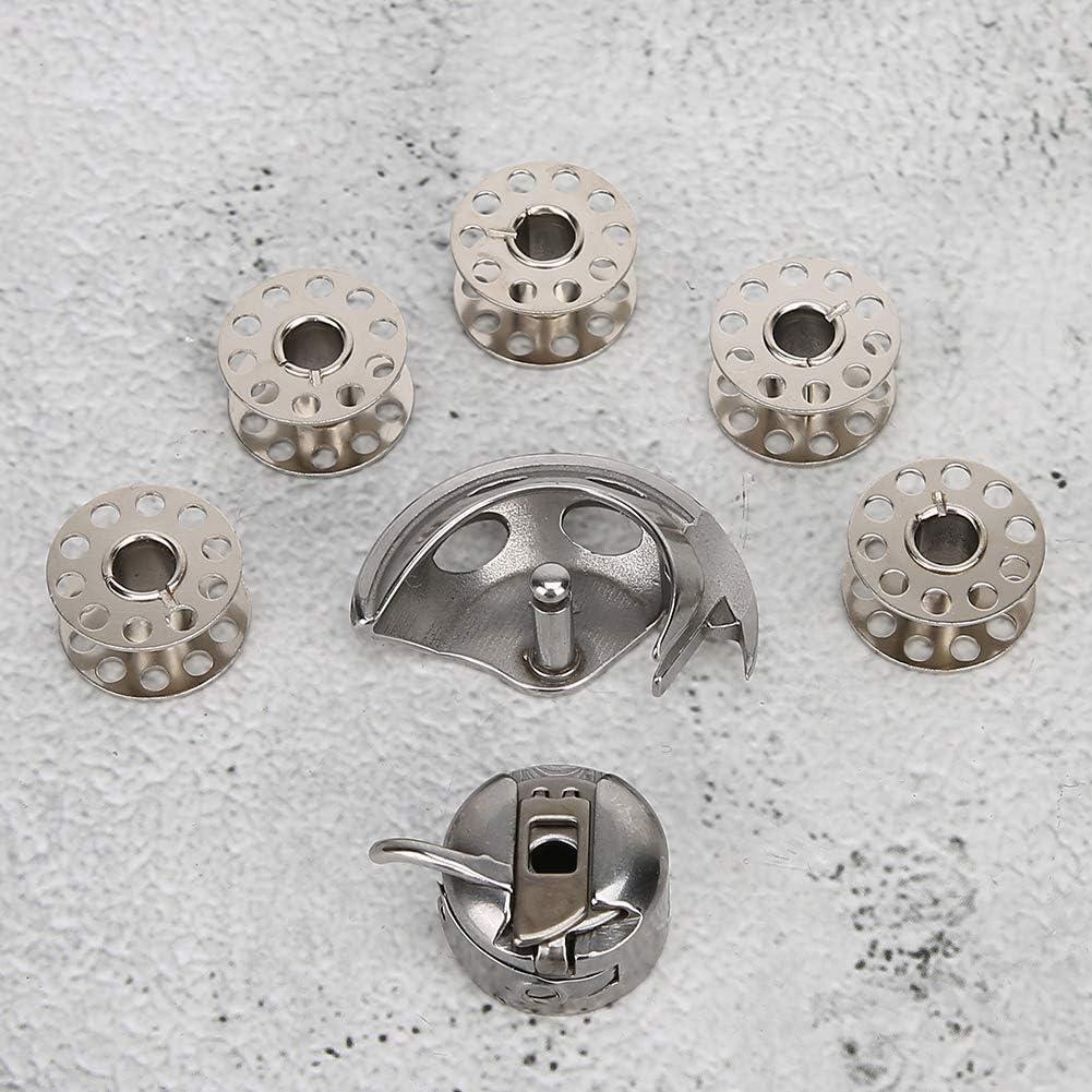 Estuche de bobina para m/áquina de coser con 5 piezas de bobinas de coser M/áquinas de coser dom/ésticas de estilo antiguo