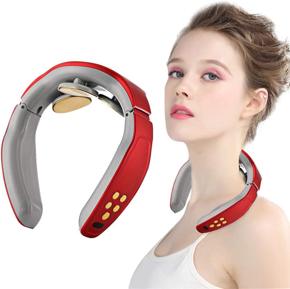 Cuello Masajeador, Shiatsu Masajeador Cervical, Masajeador de Cuello Multifunción,Masajeador de cuello 3D inalámbrico inalámbrico inteligente,Aliviar Rápidamente el Dolor Cervical