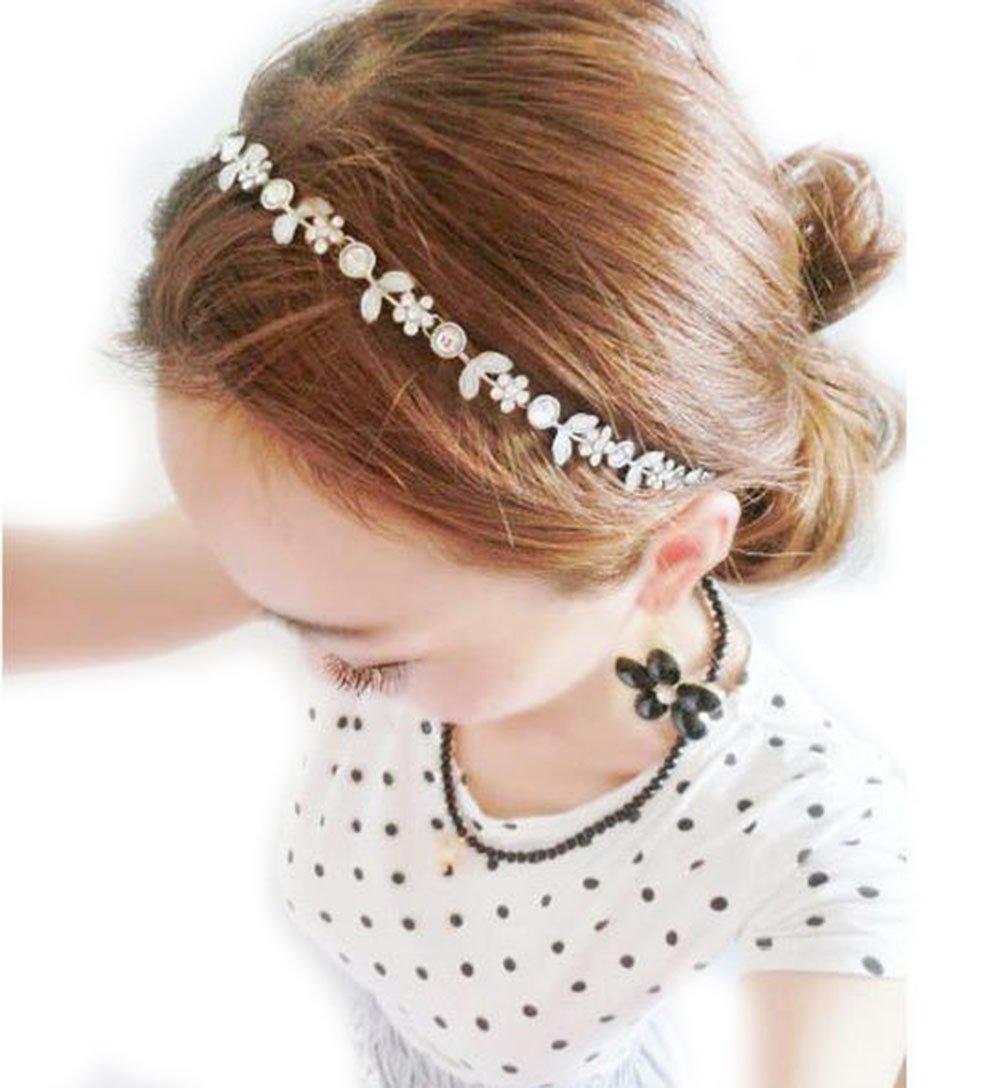 bandeaux pour les cheveux coiffure Gudeke M/étal diamant brillant temp/érament doux fleurs sauvages accessoires pour cheveux Bandeaux