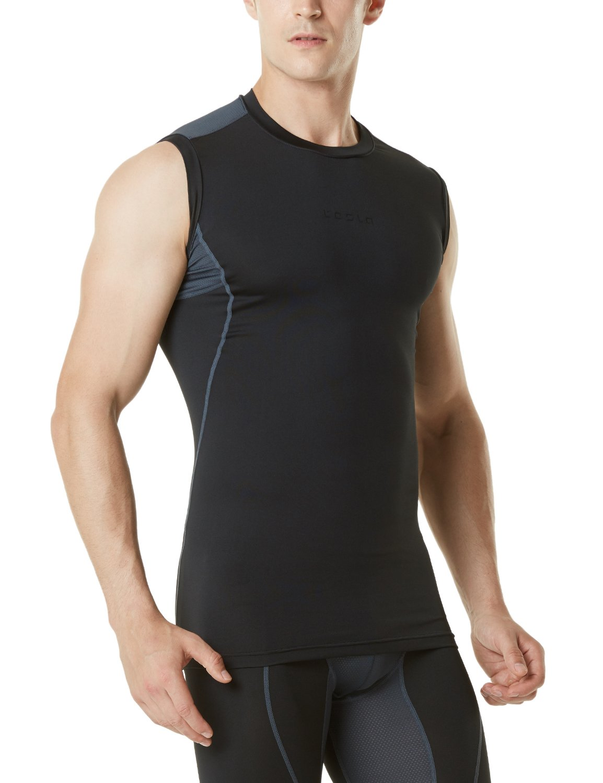 TSLA Men's Muscle Tank Sleeveless Compression