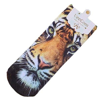 Reputable calcetines de algodón 3D impresos hombres mujeres patrón animal Calcetines cortos unisex calcetines tobillo