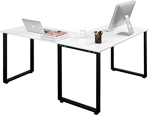 Goujxcy L-Shaped Computer Desk