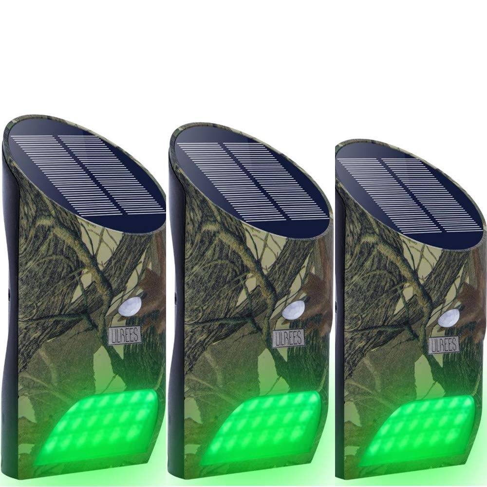 Lilbees Hog Feeder Light Motion Activated Green Light for Predator Coyote Pig Varmint Deer Hog Night Hunting(FL-3)(Pack of 3)