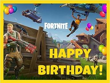 picture regarding Fortnite Birthday Card Printable titled : Fortnite Birthday Cake Topper, 1/4 Sheet
