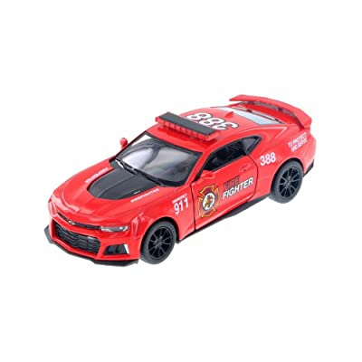 Kinsmart 2020 Chevrolet Camaro ZL1 Firefighter Hard Top, Red 5399DPR - 1/38 Scale Diecast Model Toy Car but NO BOX: Toys & Games [5Bkhe0503651]