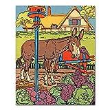 Best Cloud Nine Prints Toddler Girl Books - Farm Nursery Print, Donkey Art Review