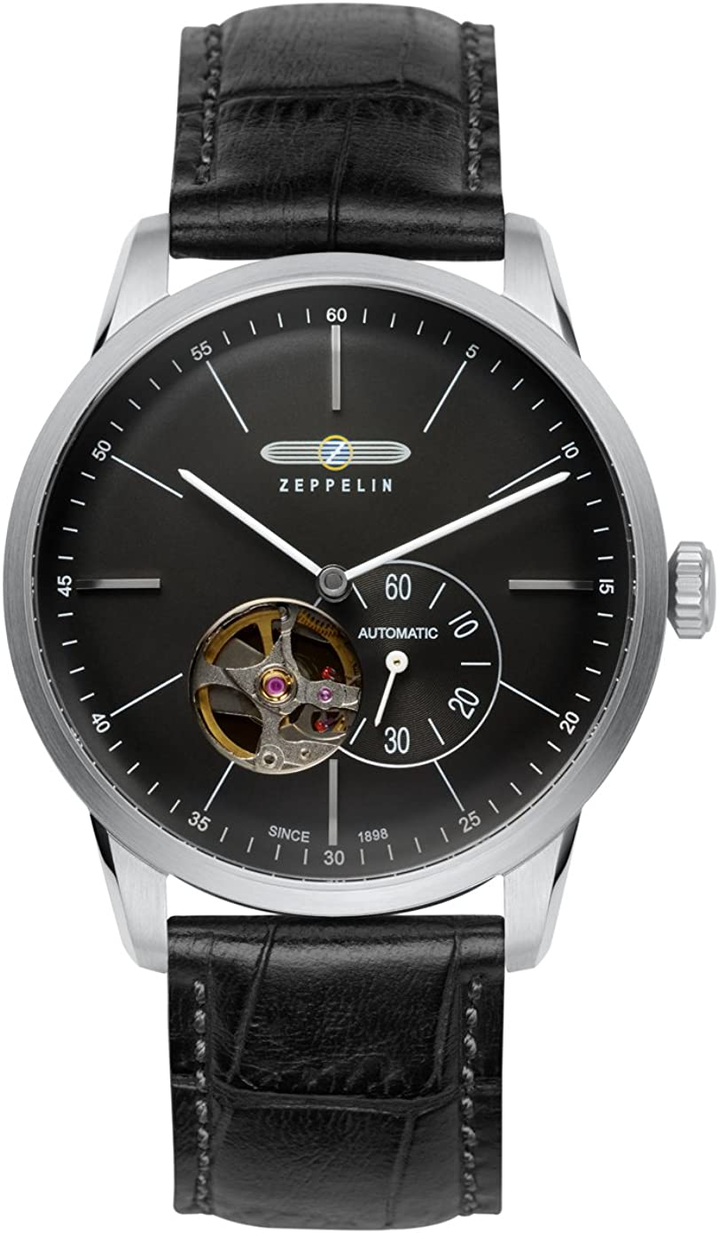 Zeppelin Flatline 7364-2 Automatic - Open Heart (Balance) Watch