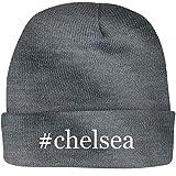 SHIRT ME UP #Chelsea - A Nice Hashtag Beanie Cap, Grey, OSFA