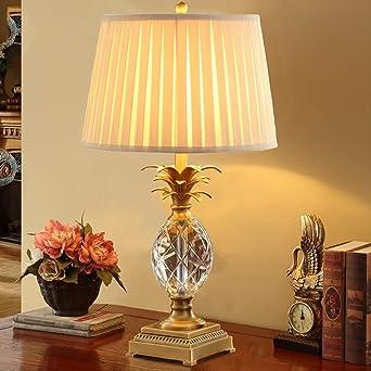 Lámpara de mesa de cristal de lujo Luxtry Forma de piña Lámparas ...