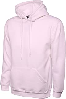 Uneek Clothing-Mens-Classic Hooded Sweatshirt-300 gsm-Pink-M UneekClothing 502PIMD