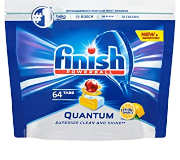 a53c25743f0a Finish Dishwasher Tablets, Quantum Lemon, 64-Count: Amazon.co.uk: Health &  Personal Care
