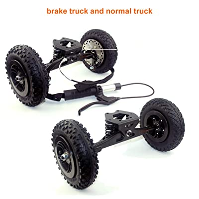 L-faster Mountainboarding Skateboard Trucks Offroad Boarding Spring Truck with Brake All Terrain Longboard Brake System (Brake with Normal) : Sports & Outdoors