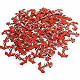 Firefly Imports Nautical Anchor Wooden Baby Favors, Red, 1-1/2-Inch, 100-Piece