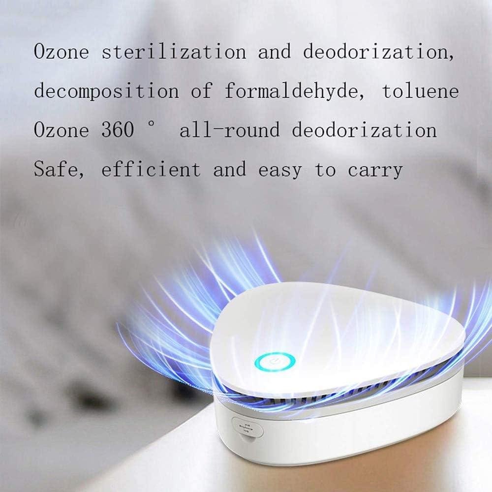zapatero armario Zeerkeer Mini generador de ozono esterilizador recargable USB para frigor/ífico de ozono port/átil purificador de aire para congelador