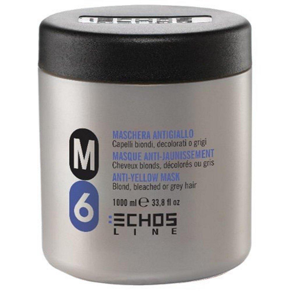Maschera Antigiallo M6 - Per Capelli Biondi, Decolorati o Grigi 1000 ml - Echosline
