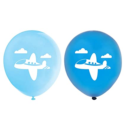 Amazoncom Airplane Balloons 12inch 16pcs Blue Plane Themed Baby