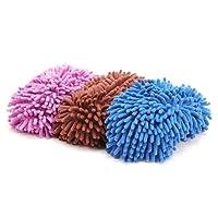 Chaussons serpillères mop pantoufles mop Chaussons à frange pour salle de bain Bureau Cuisine Facile à Nettoyer
