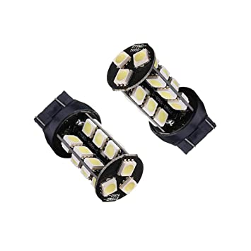 Unipower TMT LEDS(TM) 2 X BOMBILLAS LED CANBUS T20 7443 W21/5W 27 SMD 5050 BLANCO POSICION FRENOS LUCES DIURNA ETC COCHE MOTO: Amazon.es: Coche y moto