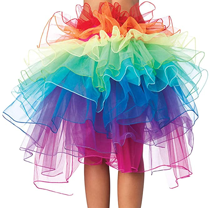 Super carino 7f241 65606 Gonna Tulle Arcobaleno Donna tutù Tutu per Danza Gonne in ...