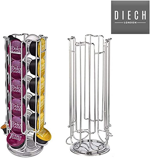 Soporte giratorio para cápsulas de café Dolce Gusto de Diech para 24 cápsulas de café, soporte para cápsulas | almacenamiento de cápsulas: Amazon.es: Hogar