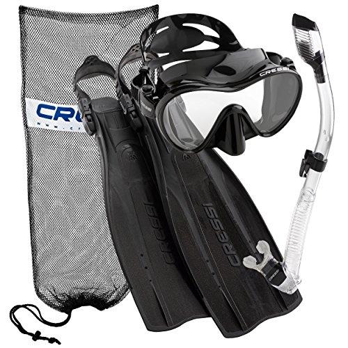 - Cressi Pro Light Open Heel Diving Fin with Frameless Combo, BK-LXL