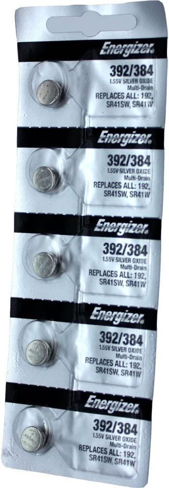 5 Pack Energizer 392//384 Multi-Drain Battery SR41 Replaces LR41