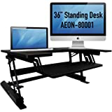 """Standing desk for home or office, 36"""" wide, sit to stand workstation Aeon 80001"""