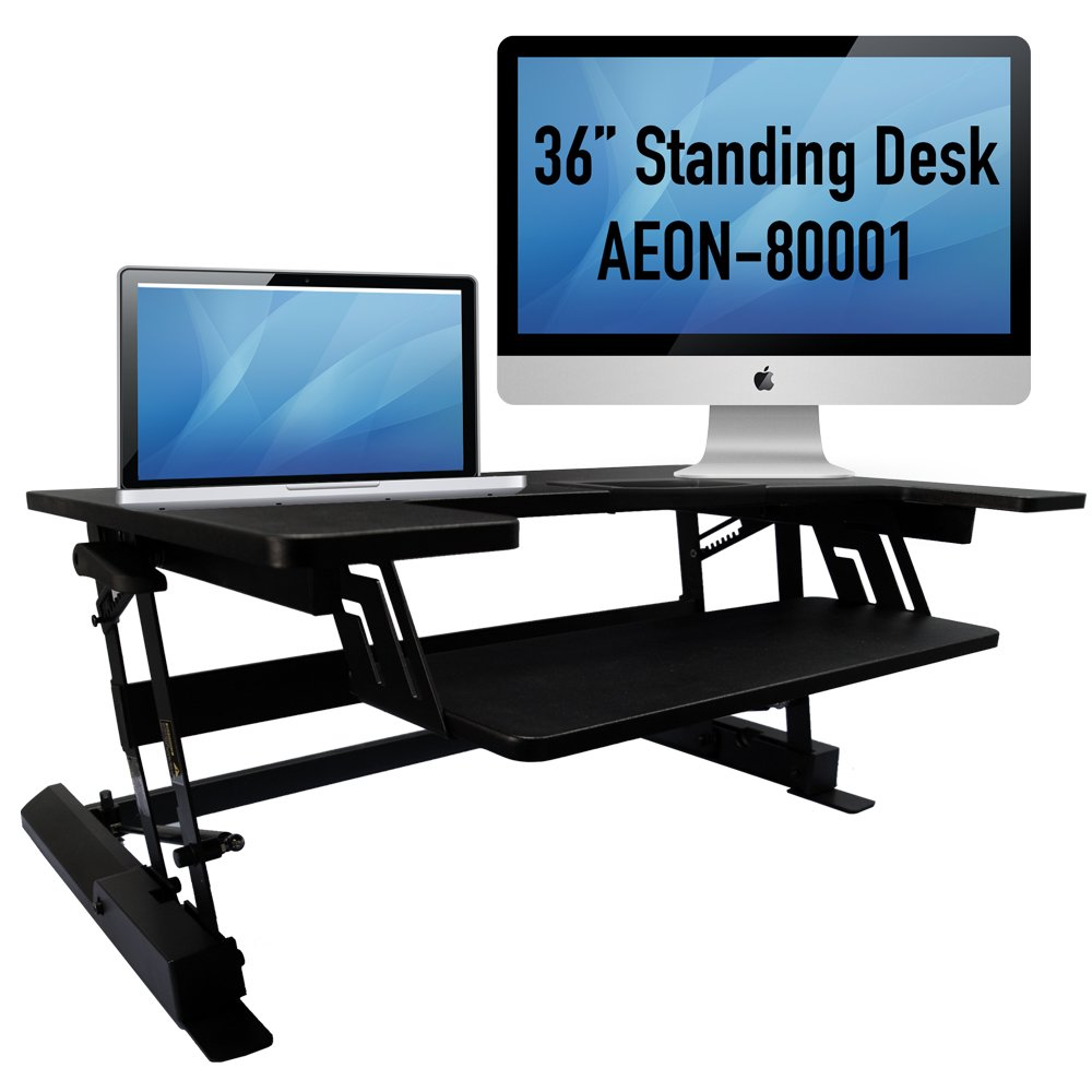 Amazoncom Standing desk for home or office 36 wide sit to