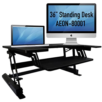 Aeon Sit To Stand Desk   Height Adjustable (36u0026quot; Wide)