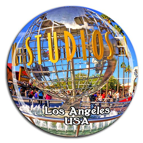 Universal Studios Hollywood Los Angeles America USA Fridge Magnet 3D Crystal Glass Tourist City Travel Souvenir Collection Gift Strong Refrigerator Sticker -